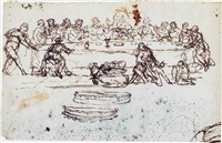 the last supper by pomponio amalteo