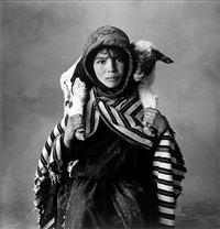young berber shepherdess, morocco by irving penn