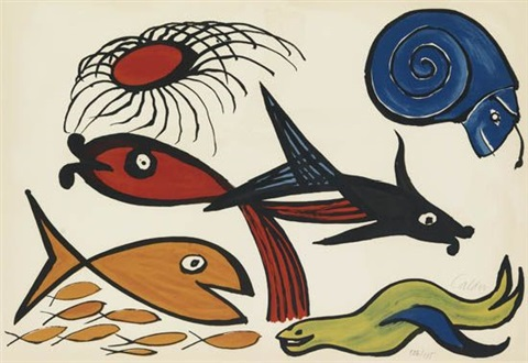 sea creatures from our unfinished revolution by alexander calder