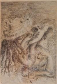 two girls by pierre-auguste renoir