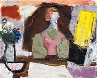 ohne titel (interieur mit figur) by joachim heuer