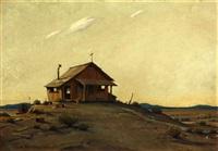 deserted, desert homestead by clyde forsythe