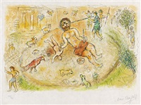 polypher (from homère: l'odyssée, vol i) by marc chagall