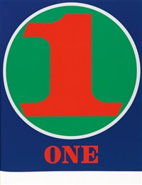 numbers (bound volume with complete text and 10) by robert indiana