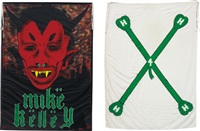 satan's nostrils; and hangin'-heavy-hairy-horny (sweat) (2 works) by mike kelley