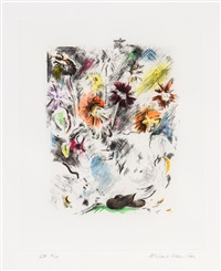 multi-coloured flower piece by richard hamilton