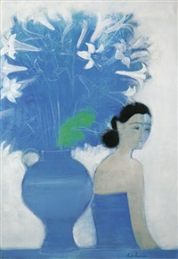 bouquet bleu (blue bouquet) by andré brasilier
