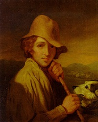 portrait of a shepherd by samuel de wilde