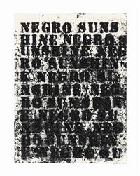 study for negro sunshine #95 by glenn ligon