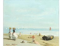 a day at the beach by raoul millais