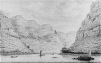 a view of kestert, looking upstream by hendrick de leth
