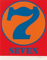 seven (from numbers) by robert indiana
