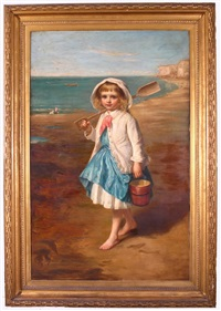 going to work, portrait of florence halford by eden upton eddis
