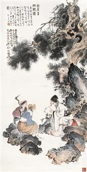 白居易问诗图 (figures) by gu bingxin