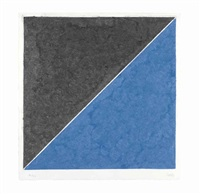colored paper image xv (dark gray and blue) by ellsworth kelly