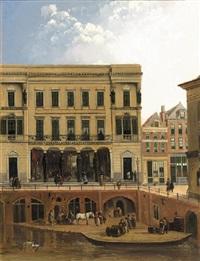 the winkel van sinkel along the oude gracht, utrecht by augustus wijnantz