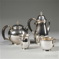 tea and coffee service (4 pieces) by georg jensen (co.)