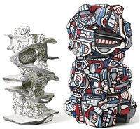 tour aux figures; gastrovolve (in 2 parts) by jean dubuffet