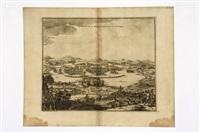 mexique - portus acapulco - vitziliputzli (3 works) by pierre van der aa