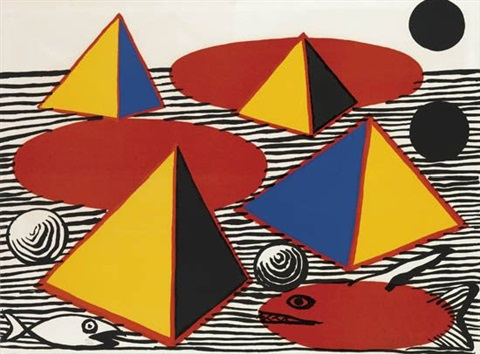 pyramids and fish by alexander calder