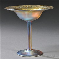 gold favrile compote by tiffany studios