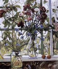 deux vases de fleurs by youri mochkin