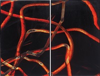 greeting card (armory diptych) (in 2 parts) by aaron young