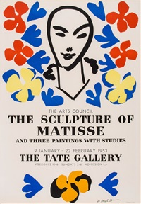 poster for the sculpture of matisse by henri matisse