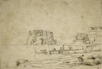 vue du château de l'oeuf à naples by théodore claude félix caruelle d' aligny