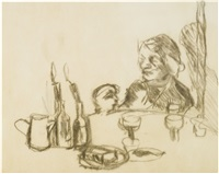 christmas day lunch by lucian freud
