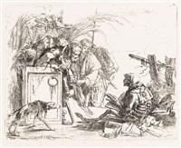 la morte dà udienza (from vari capricci) by giovanni battista tiepolo