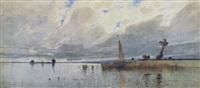 chiemsee-segelschiff by eduard fischer