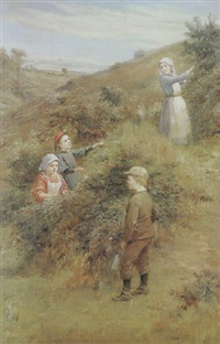 blackberry gatherers by john hodgson campbell