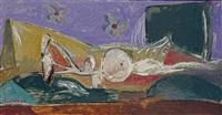 sans titre (la femme allongée) by george condo