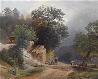 holzsammler auf der landstrasse by joseph gerstmeyer