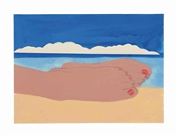 study for seascape #4 by tom wesselmann