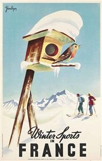 winter sports in france by jean leger