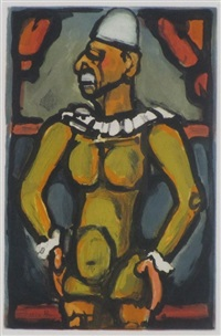 yellow clown (from cirque de l'etoile) by georges rouault