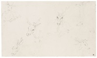 studies of deer by jan brueghel the younger