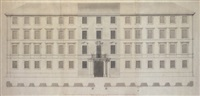 a design for the facade of the palazzo corsini at albano by paolo posi