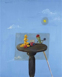 still life with decal by george condo