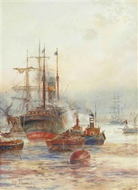 off greenwich, london by frederick william scarborough