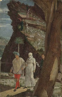 the annunciation to the shepherds (fragment) by andrea mantegna