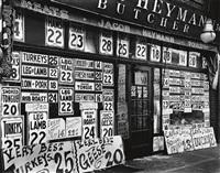 jacob heymann butcher shop, 345 sixth avenue by berenice abbott