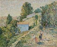 au jardin by eugène bégarat
