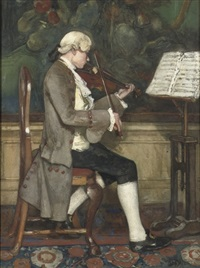 the violin player by david joseph bles