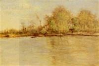 bord de rivière by jean paul raffaelli