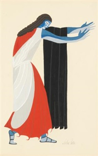 costume design for seven against thebes by alexandra exter