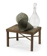 assemblage aus metall und glas by nancy shaver