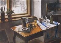 csendélet ablaknál (still life by the window) by tamas konok